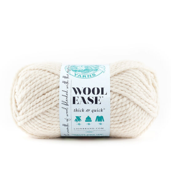 LION Brand Wool-Ease Thick and Quick Yarn *You Choose* Many Colors