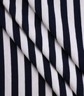 Light Upholstery Fabric-Navy Cream Stripe