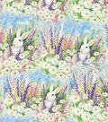 Easter Cotton Fabric-Garden Bunnies
