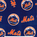 New York Mets Fleece Fabric -Logo