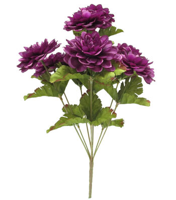 Blooming Autumn 15'' Marigold Bush-Purple