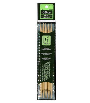 """Clover Bamboo Double Point Knitting Needles 7""""-Size 10"""
