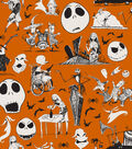Nightmare Before Christmas Halloween Cotton Fabric -Friends