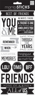 Friends Forever Sayings Sticker