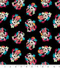Disney Minnie Mouse Cotton Fabric -Floral Toss