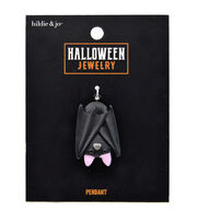hildie & jo Halloween Jewelry Polyresin Sleeping Bat Pendant, , hi-res