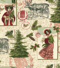 Christmas Cotton Fabric 44\u0022-Vintage Holiday Forest