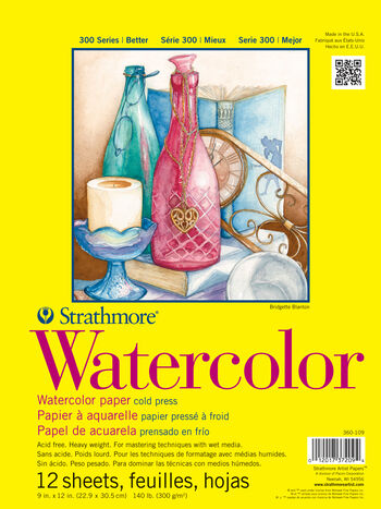 Strathmore 300 Series 12 Sheets 9''x12'' Watercolor Pad