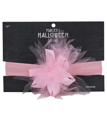 Maker's Halloween Infant Headband-Pink
