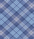 Nursery Flannel Fabric -Blue Plaid