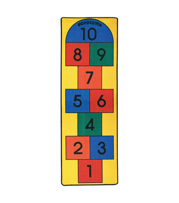 "Hopscotch Play Carpet, 27""W x 80""L"
