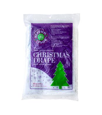 "Buffalo Snow Snow-Tex Sparkling Christmas Drape 36"" x 60"""