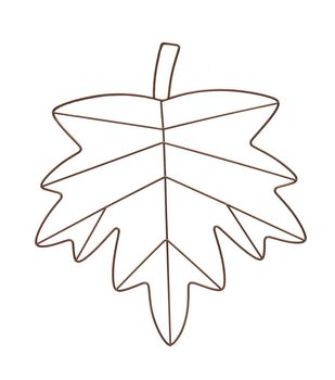 Blooming Autumn 16'' Metal Maple Leaf Frame-Copper