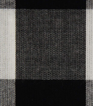 Cotton Shirting Fabric-Black/White Buffalo Check