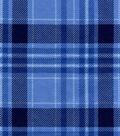 Snuggle Flannel Fabric 42\u0022-Blue Plaid
