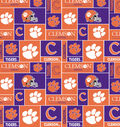 Clemson University Tigers Fleece Fabric 58\u0022-Block