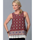 McCall\u0027s Pattern M7389 Misses\u0027 Sleeveless Tops with Overlays-Size 14-22