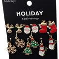 hildie & jo Holiday Earrings-Stocking & Tree
