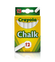 Crayola 12 Ct White Chalk, , hi-res