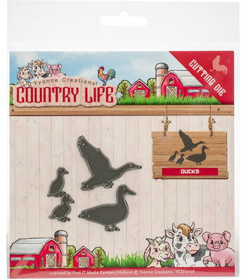 Yvonne Creations Country Life 4 pk Cutting Dies-Ducks
