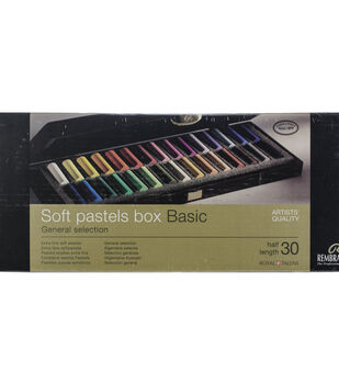 Rembrandt 30 pk Half Stick Extra Fine Soft Pastels in Wooden Box-Basic