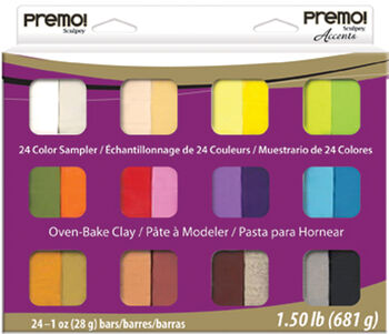 Premo Clay Sampler Pack 1oz 24/Pkg Assorted Colors