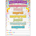 French Immersion Chart Confetti Days of the Week 10pk