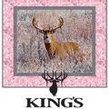 Quilt Kit-Kings Camo Whitetail Deer Pink by Riley Blake