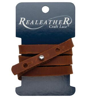 Realeather 0.38''x24'' Wrap Bracelet-Brown