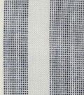 Viscose Shirting Fabric-White Navy Pixel Stripe