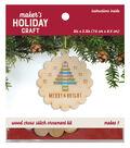 Wood Cross Stitch Ornament Kit-Tree
