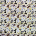Novelty Cotton Fabric-Neutral Puppies