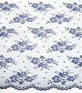 Casa Embellish Lace Fabric 54\u0022-Chantilly Blue Print