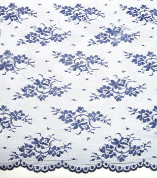 "Casa Embellish Lace Fabric 54""-Chantilly Blue Print"