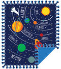 No Sew Fleece Throw 48\u0022-Planets