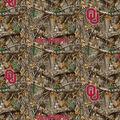 Oklahoma Collegiate Realtree Cotton Fabric 42\u0022-Camo & Logo