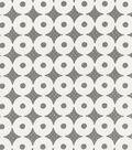 IMAN Home Sheer Fabric 57\u0022-Sayan Circles/Alabaster