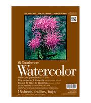 """Strathmore Watercolor Block Paper Pad 9""""X12""""-140lb Cold Press 15 Sheets, , hi-res"""