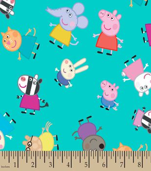 Peppa Pig & Friends Print Fabric