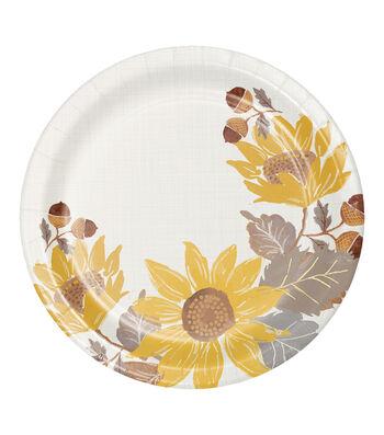Simply Autumn 8 pk 8'' Dinner Plates-Sunflowers