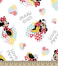 Disney Minnie Print Fabric-Love Minnie