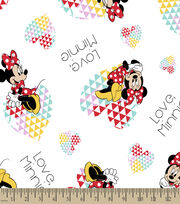 Disney Minnie Print Fabric-Love Minnie, , hi-res