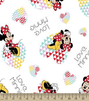 Disney Minnie Print Fabric-Love Minnie