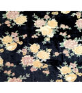Boho Style Velvet Fabric 54\u0022-Burnout Yellow Floral