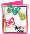 Sizzix Thinlits Textured Impressions By Courtney Chilson-Just A Note