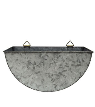 In the Garden 14'' Galvanized Metal Wall Planter