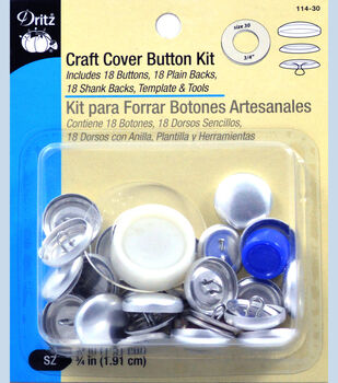 Craft Cover Button Kit Size Qtr In