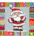 Dimensions Needlepoint Kit 14\u0022X14\u0022-Patterned Santa Stitched In Yarn