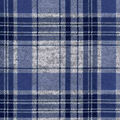 Luxe Flannel Fabric -Plaid Navy Gray Heather