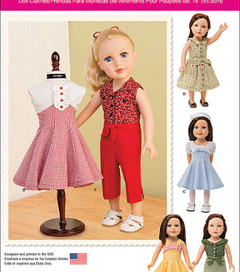 Simplicity Patterns Us1086Os-Simplicity 18 Doll Clothes-One Size